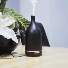 Umidificator Mini Difuzor Aromaterapie Ultrasunete 100 ml cu LED din Ceramica 3 Setari de Timp - Purificator aer