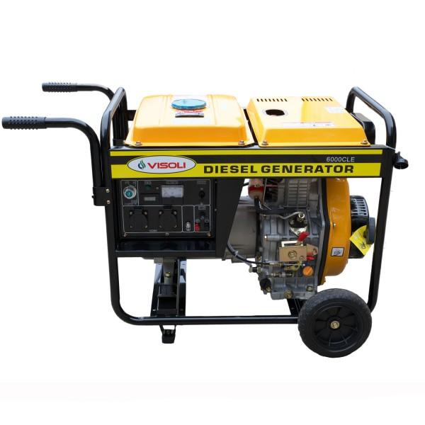 Generator de Sudura/Curent Diesel Visoli DGW6000E Monofazat