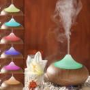 Umidificator Difuzor aromaterapie ultrasonic 140 ml din ceramica si lemn - Purificator aer